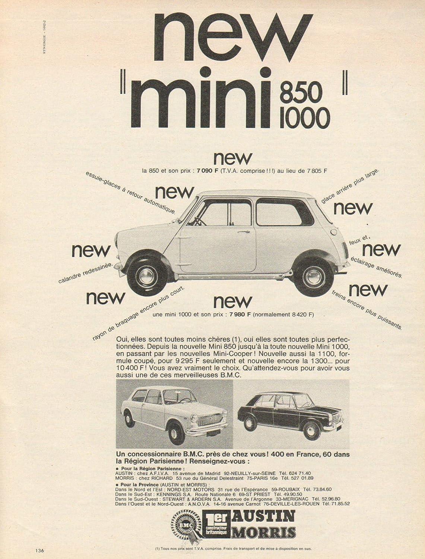 Amazoncom 1968 Bmc Mini 850 1000 Austin Morris Large Non