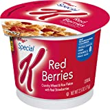 Kellogg's Special K, Breakfast Cereal in a Cup, Red Berries, Bulk Size (Pack of 12, 2.5 oz Cups)