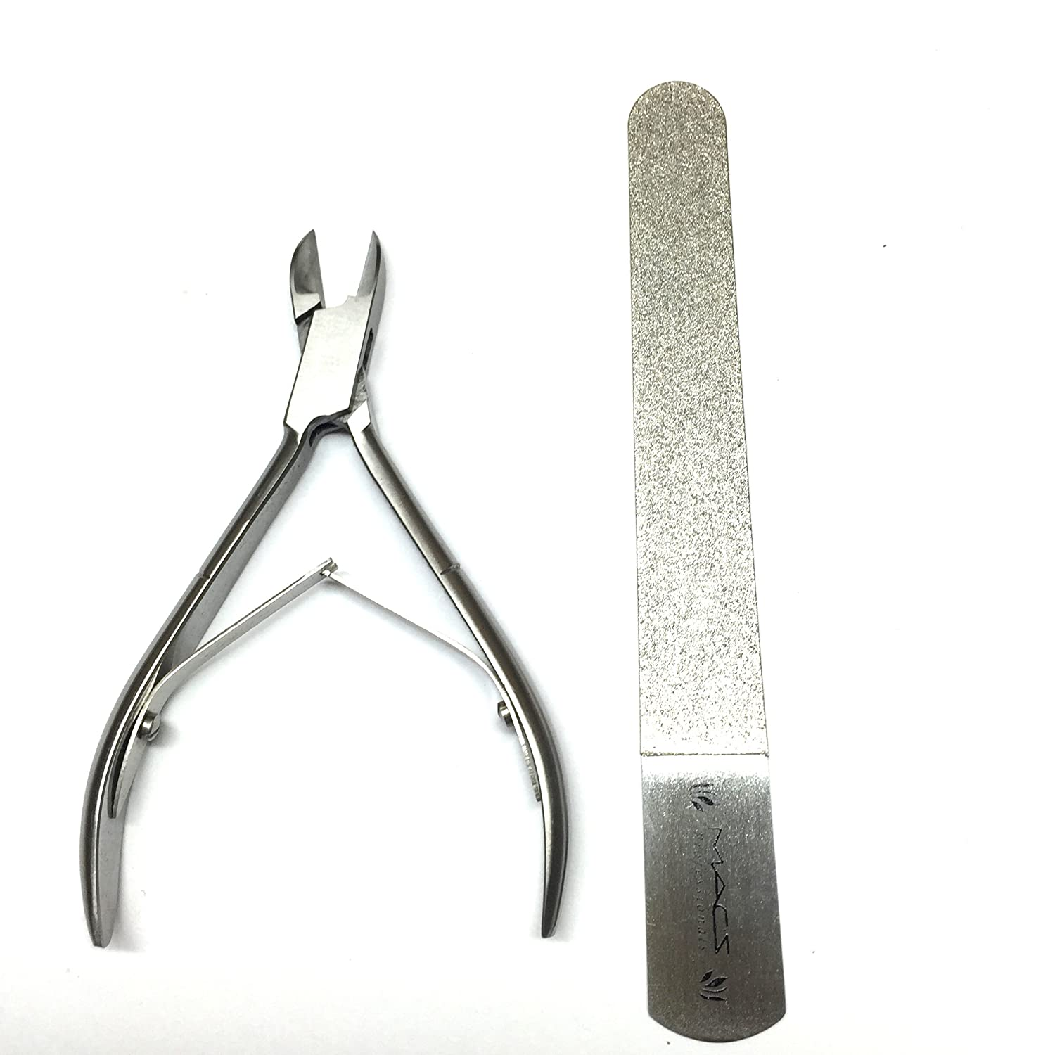 Macs Professional Toe Nail Nipper & Ingrown Toe Nail Clippers With Diamond Nail File Made Of High Grade Surgical Stainless Steel Macs Professional Quality-0788
