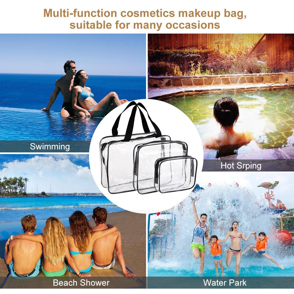 VORCOOL 3 St/ück Kulturbeutel Wasserdicht Kosmetiktasche Kulturtasche Transparent