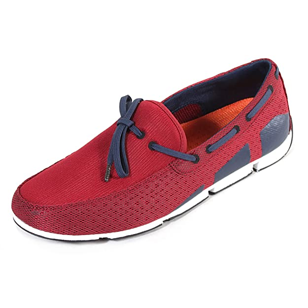 Swims Braided Lace - Mocassins - Homme - Blue (Navy/Red) - Taille: 40 HN2wfEy8v6