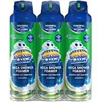 3 Pack Scrubbing Bubbles Mega Shower Foamer with Ultra Cling Bulk Bathroom Cleaner 20 Ounce