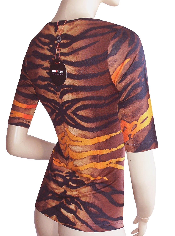002 Moya Camiseta Amazon Moya Marrónnegro es Corta De Manga wqntZIf