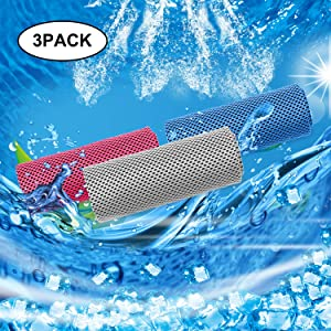 "Tagefa 40""x 12"" Cooling Towel for Neck, Cool Workout Cold Towels, Chill Sweat Rag for Women/Men, Gym, Yoga, Sports, Fitness, Travel, Outdoor"