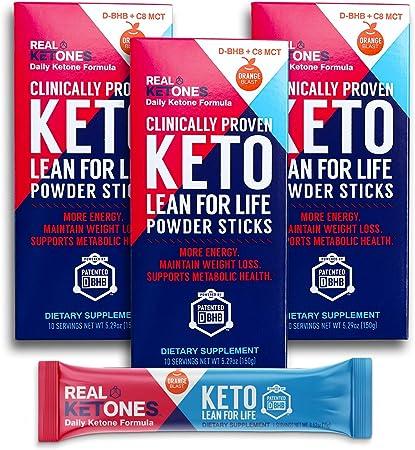 Real Ketones Prime D- Exogenous Keto D BHB + MCT + Electrolytes- Drink Mix Supplement Powder, 30 Packets- Orange Blast