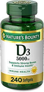 Vitamin D3 by Nature's Bounty for Immune Support. Vitamin D Provides