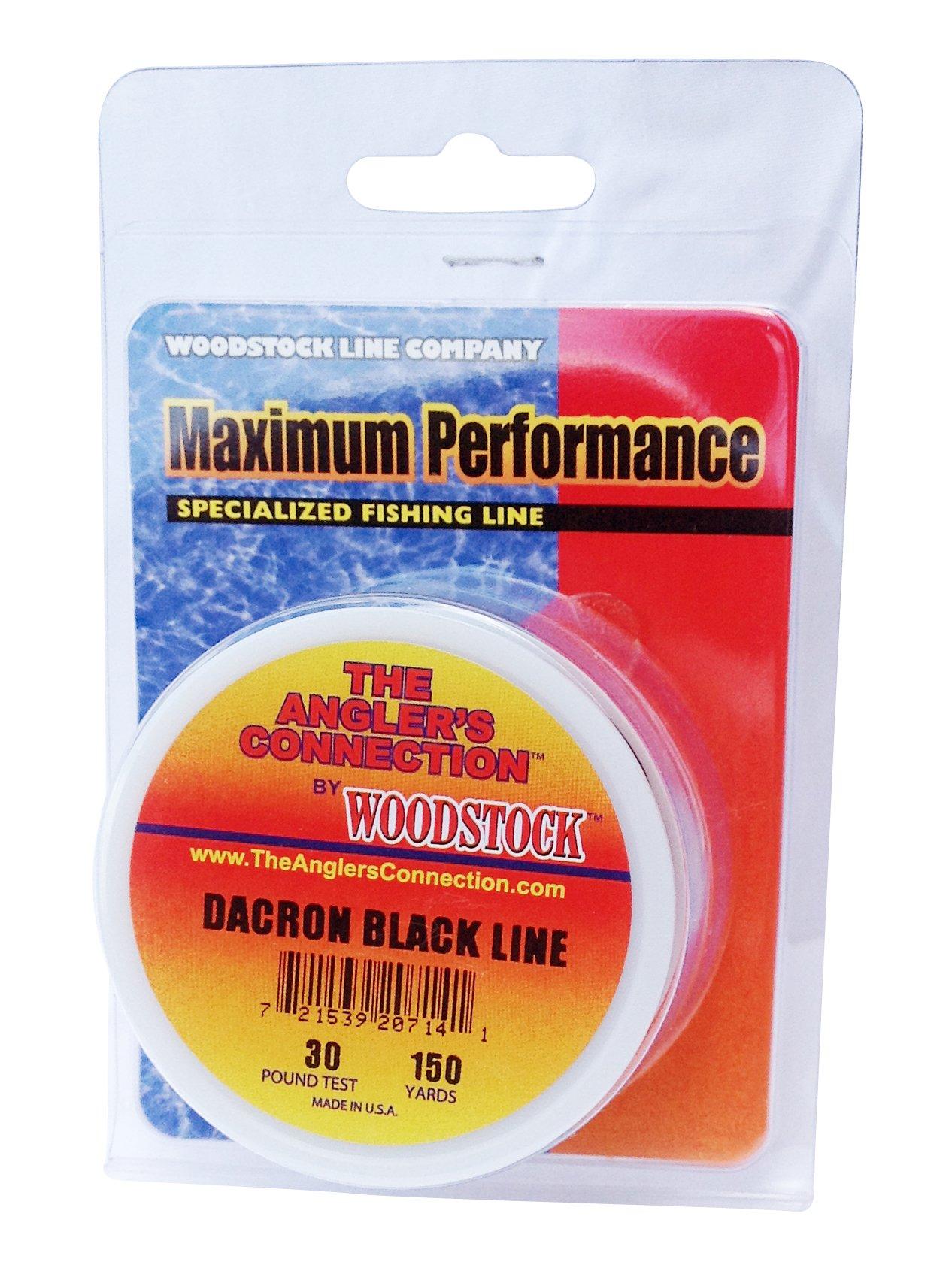 Woodstock Dacron Fishing Line, 300 Yards/100# Test, Black