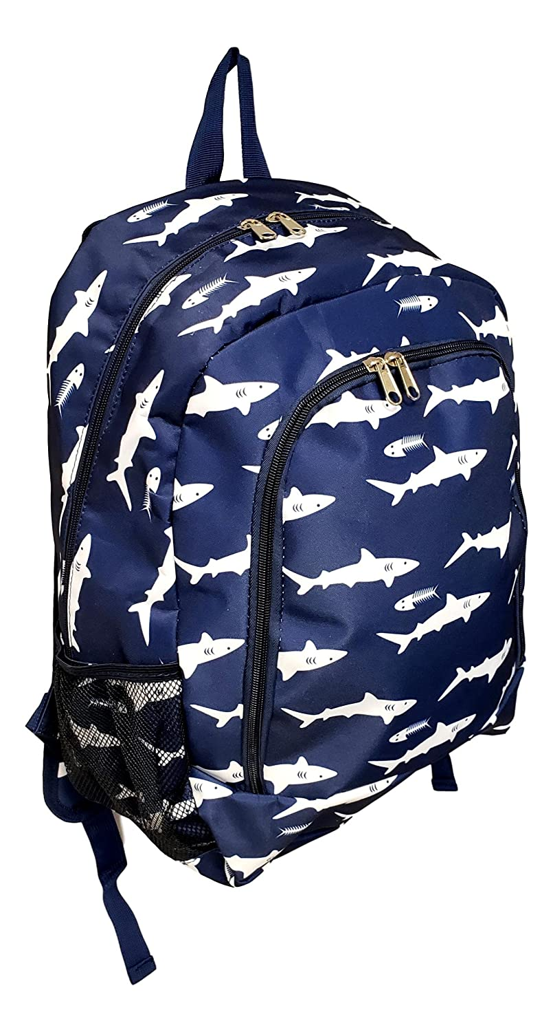 Fashion Print Medium Sized Backpack Blue Whale Custom Personalization Available