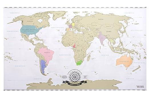 Scratch off world map xxl mapa del mundo para rascar viajeros scratch off world map xxl mapa del mundo para rascar viajeros personalizado pster amazon hogar gumiabroncs Gallery