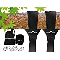 Easy Hang (4FT) Tree Swing Strap X2 - Holds 4400lbs. - Heavy Duty Carabiner - Bonus Spinner - Perfect for Tire and Saucer Swings - 100% Waterproof - Easy Picture Instructions - Carry Bag Included!