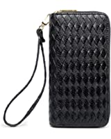 LIKESHE Women Large Capacity Multifunctional Double Zipper Wallets For Women