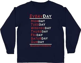 lepni.me Camiseta para Niños Every Quarantine Day Social Distancing and Isolation