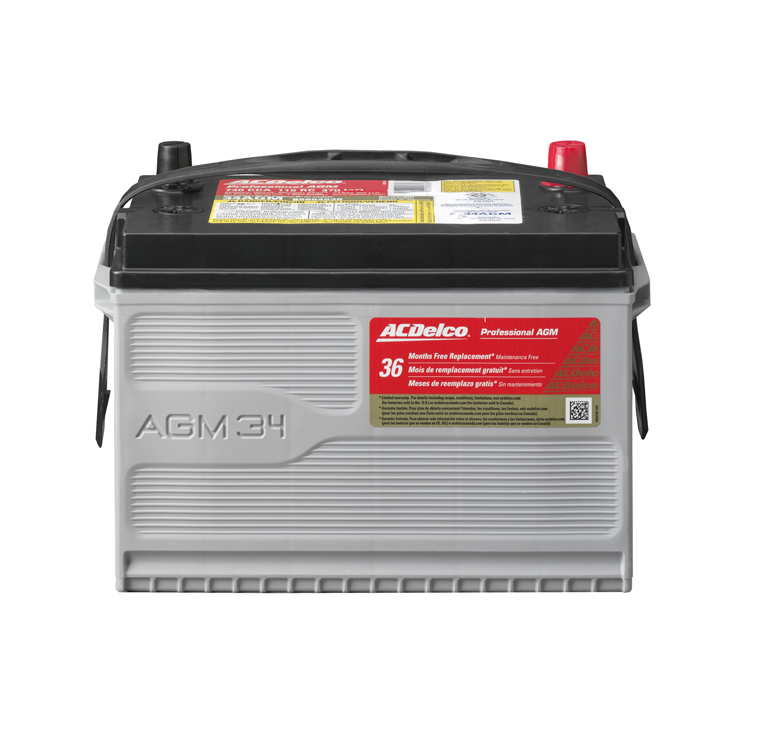 ACDelco 34AGM Professional AGM Automotive BCI Group 34 Battery by ACDelco
