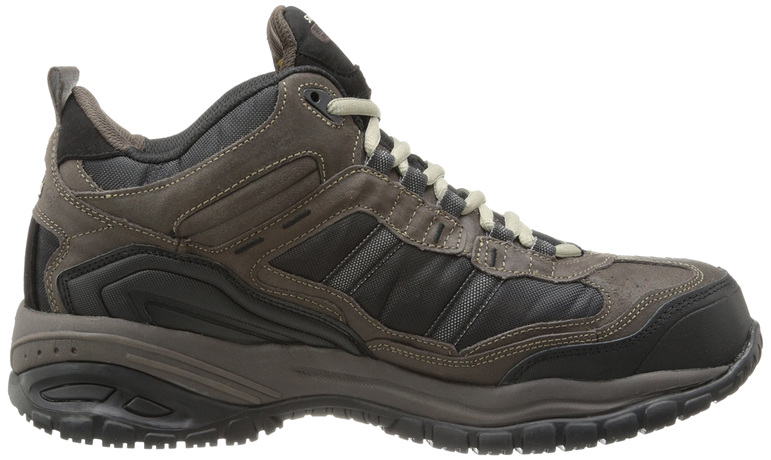 Skechers Men's Work Relaxed Fit Soft Stride Canopy Comp Toe Shoe, Brown/Black - 11.5 3E US by Skechers (Image #7)