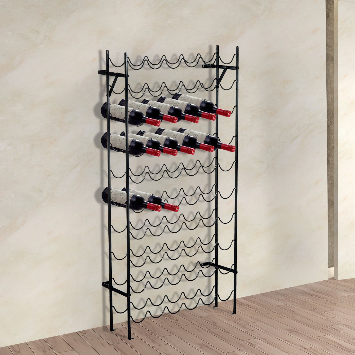 Generic DYHP-A10-CODE-4424-CLASS-8-- Bar Storage Home Home 10-Tier 60-Bottle Floor ack Dis Metal Wine e Flo Rack Display r 60-Bo --NV_1008004424-CXL-US10