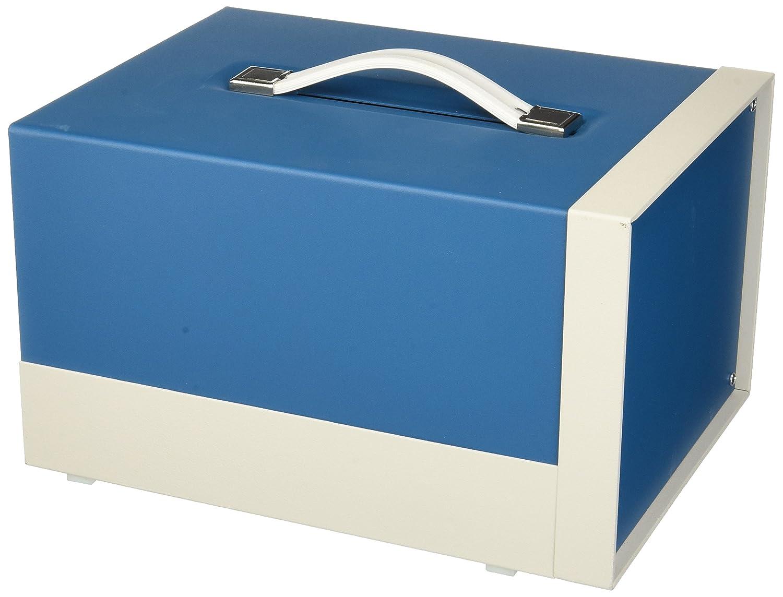 BUD Industries BB-1801-RB Aluminum Showcase Small Cabinet, 8-19/64 Width x 6-27/64 Height x 11 Depth, Royal Blue Texture Finish by BUD Industries B005T5B80W
