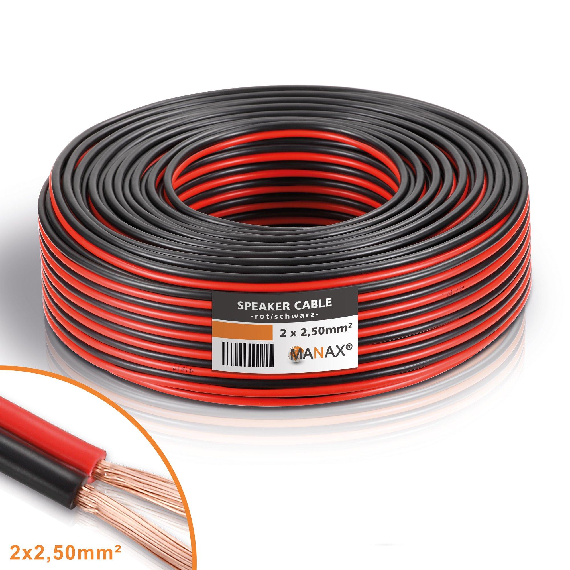 Cable para altavoz CCA 2 x 2,5 mm², color rojo/negro product