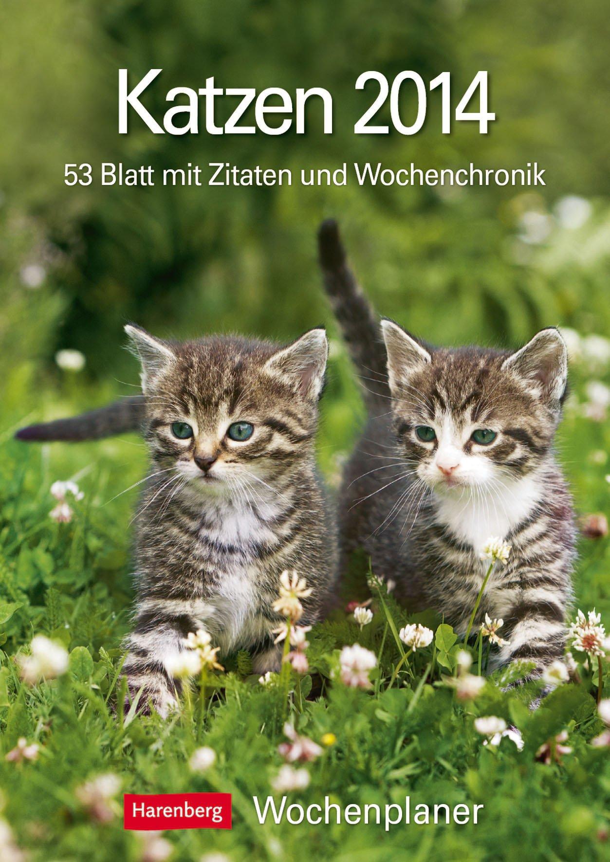 katzen-2014-harenberg-wochenplaner-53-blatt-mit-zitaten-und-wochenchronik