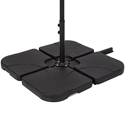 Perfect Best Choice Products Patio 4 Piece Cantilever Offset Umbrella Base Stand    Black