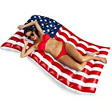 BigMouth Inc Giant Waving American Flag Pool Float, 5' Wide Funny Inflatable Vinyl Summer Pool or Beach Toy, Patch Kit Included
