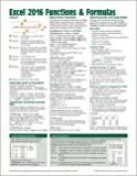 Microsoft Excel 2016 Functions & Formulas Quick Reference Card - Windows Version (4-page Cheat Sheet focusing on…