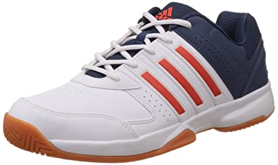 adidas Men's Acosta IN White, Red and Blue Volleyball Shoes ...