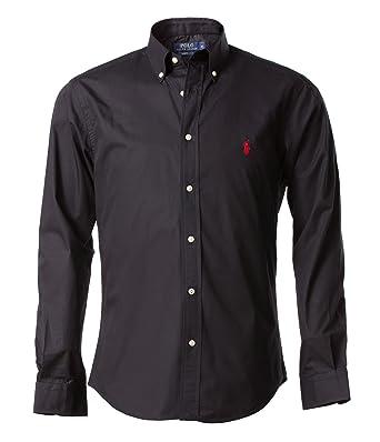 Ralph Lauren Men s Button Down Casual Shirt Black Black - Black - Small 9f4ba61d18