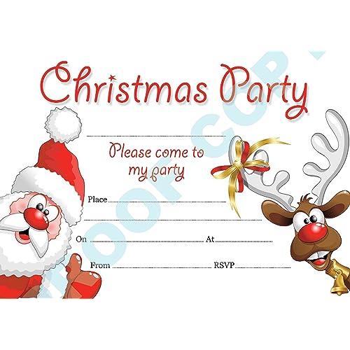 christmas party invitations amazon co uk