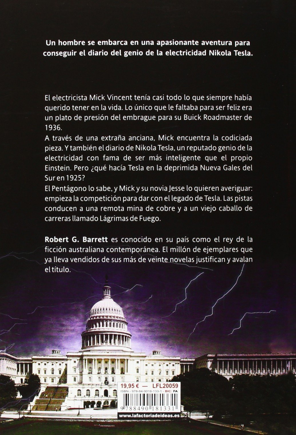 El legado de Tesla / The Tesla Legacy (Spanish Edition): Robert G. Barrett: 9788490181331: Amazon.com: Books