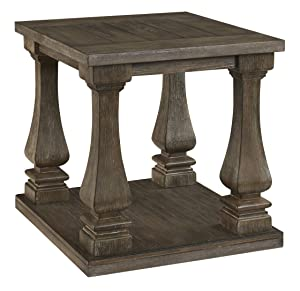 Signature Design by Ashley T776-3 Johnelle Rectangular End Table, Gray