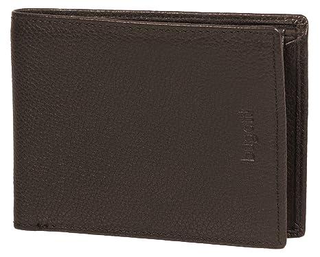 BUGATTI® monedero, cartera de cuero auténtico en formato apaisado | Cartera ligera y plana