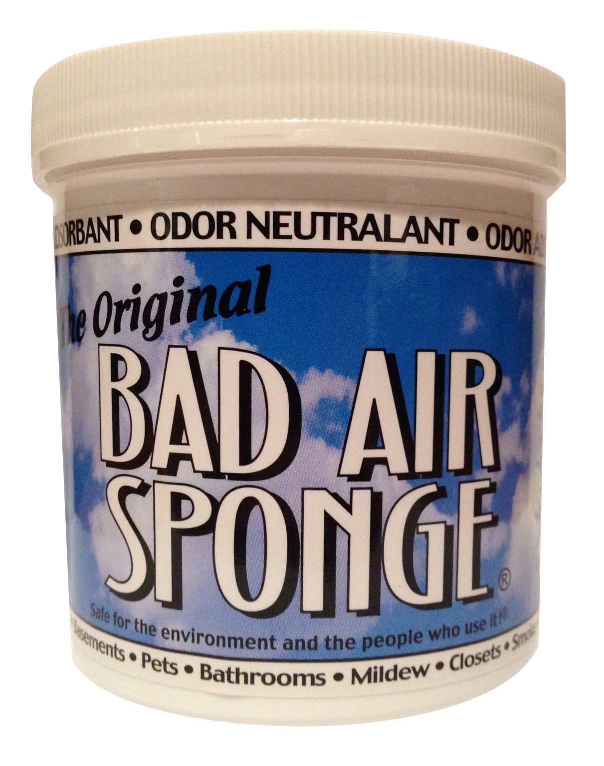 Bad Air Sponge The ORIGINAL Odor Absorbing Neutralant, 14oz(Packaging May Vary)