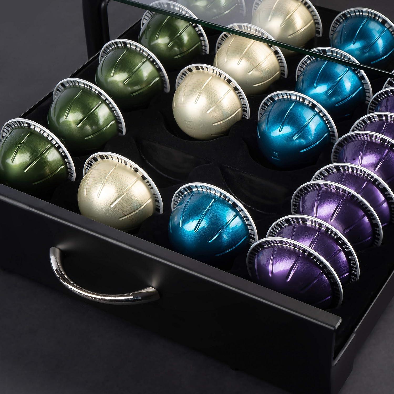 Porta capsule Dolce Gusto Porta capsule Vertuo in cristallo temperato e metallo di alta qualit/à Nobilis Culina