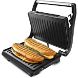 Taurus Grill & Toast Sandwichera, Acero Inoxidable, Color Negro, 14.5 cm
