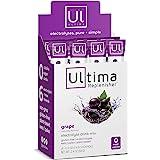 Ultima Replenisher Hydrating Electrolyte Powder, Grape, 20 Count Box, no Sugar, no Carbs, no Calories, Keto, Gluten-Free…