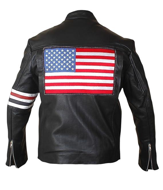 Easy Rider Peter Fonda, American Flag Style Genuine Leather ...