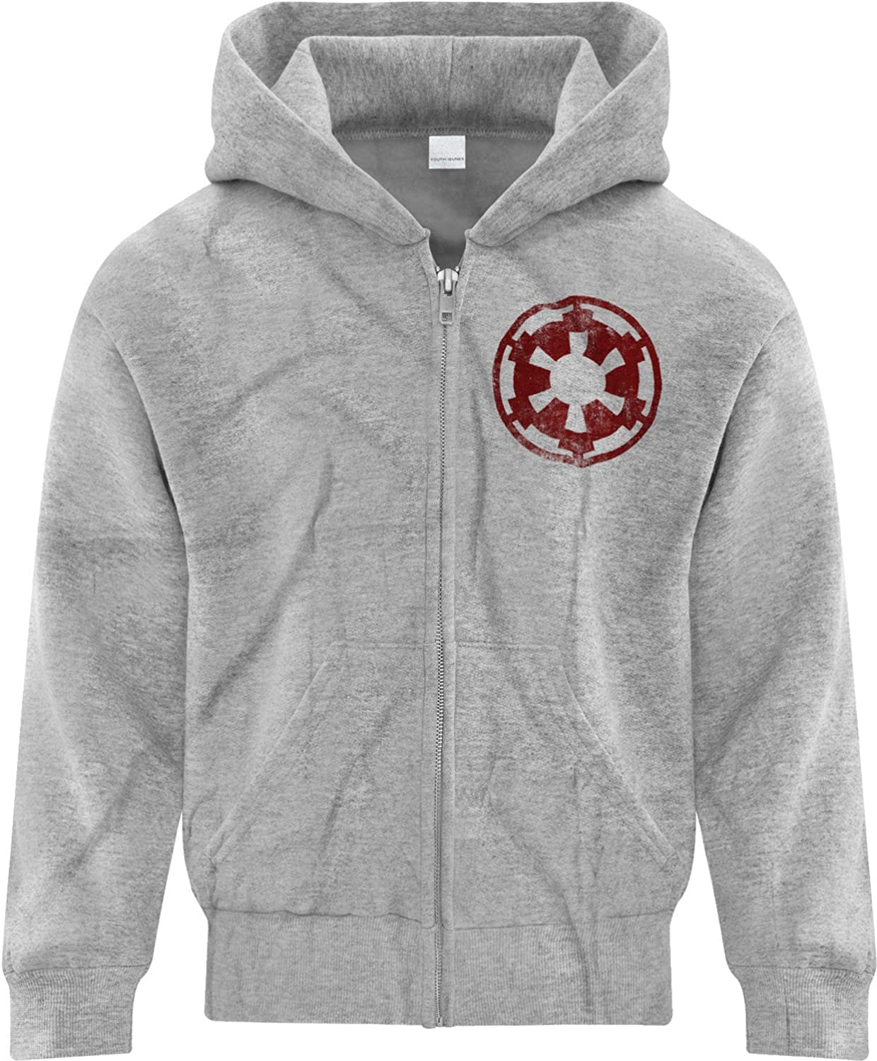 BSW Youth Girls Star Wars Imperial Crest Empire Logo Sith Lord Zip Hoodie