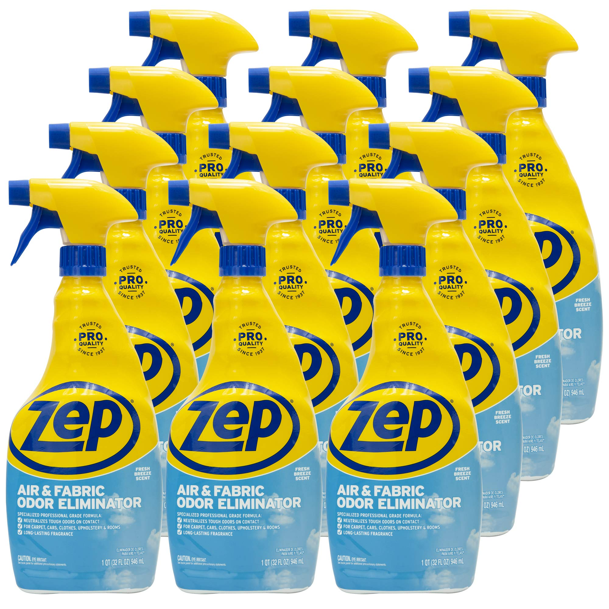 Zep Air and Fabric Odor Eliminator 32 Ounce ZUAIR32 (Case of 12)