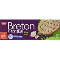 Dare Gluten Free Crackers, Black Bean with Onion and Garlic -Gluten Free Party Snackswith 2g of Fiber and Protein per Serving- 120 Grams