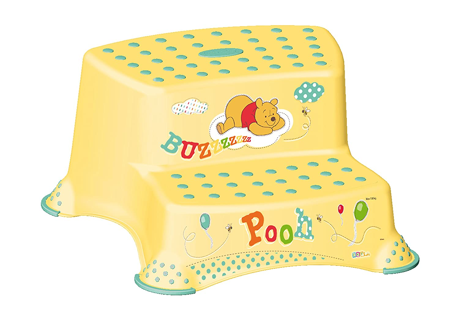 Disney Winnie the Pooh Childrens Toilet Training 21cm Double Step Stool - White
