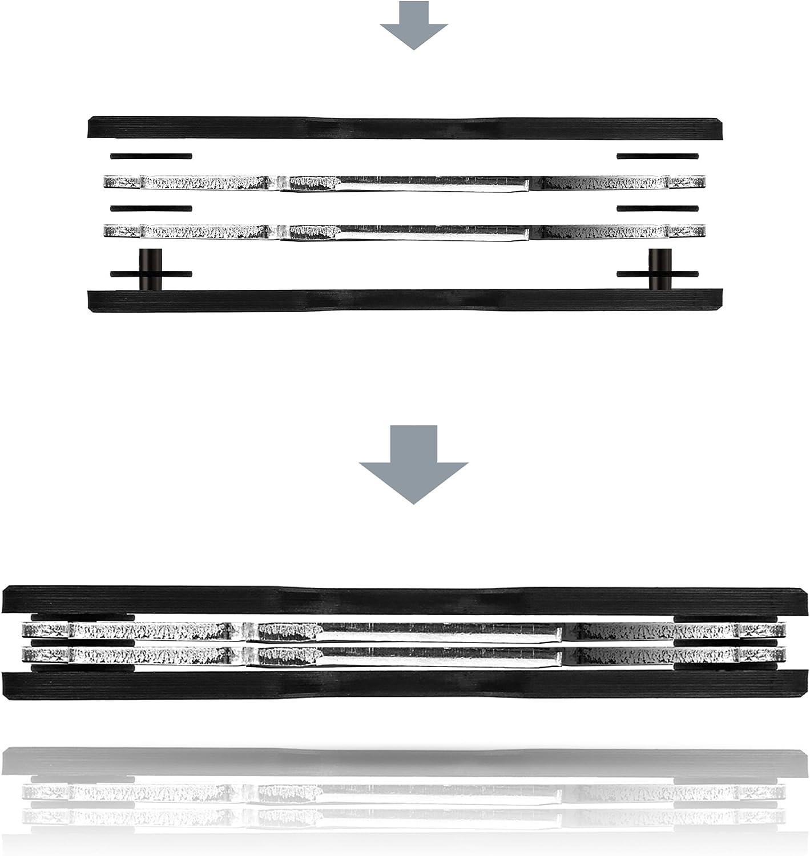 Porte-cl/és jusqu/à 12 cl/és Organisateur de cl/é Premium Carbon avec ouvre-Bouteille et /œillet pour Attacher Les Porte-cl/és Nouveau