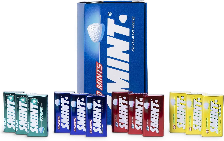 Smint Tin Best Sellers, Caramelo Comprimido Sin Azúcar, Sabores Variados - 12 Unidades De 35 g (Total 420 g)
