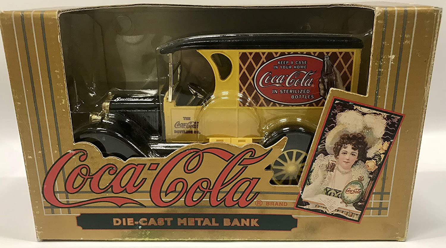 Coca-Cola Vintage rot Bottle Truck Coin Bank by Coca-Cola
