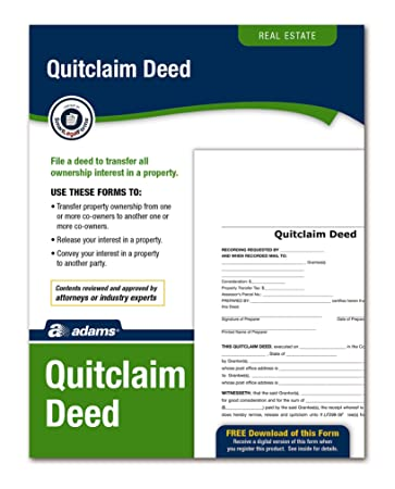 Amazon.Com : Adams Quitclaim Deed, Forms And Instructions (Lf298