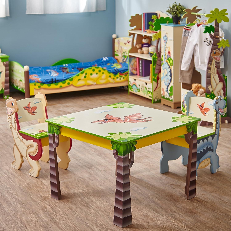 Fantasy Fields by Teamson Dinosaur Tavolo TD-0079A/1 tavolini