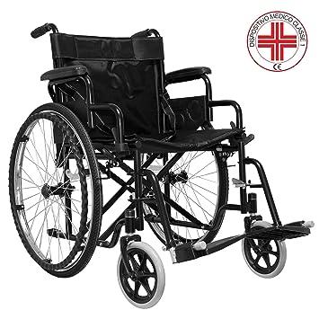Silla de ruedas para personas con discapacidad, cómoda y plegable, modelo B: Amazon.es: Salud y cuidado personal