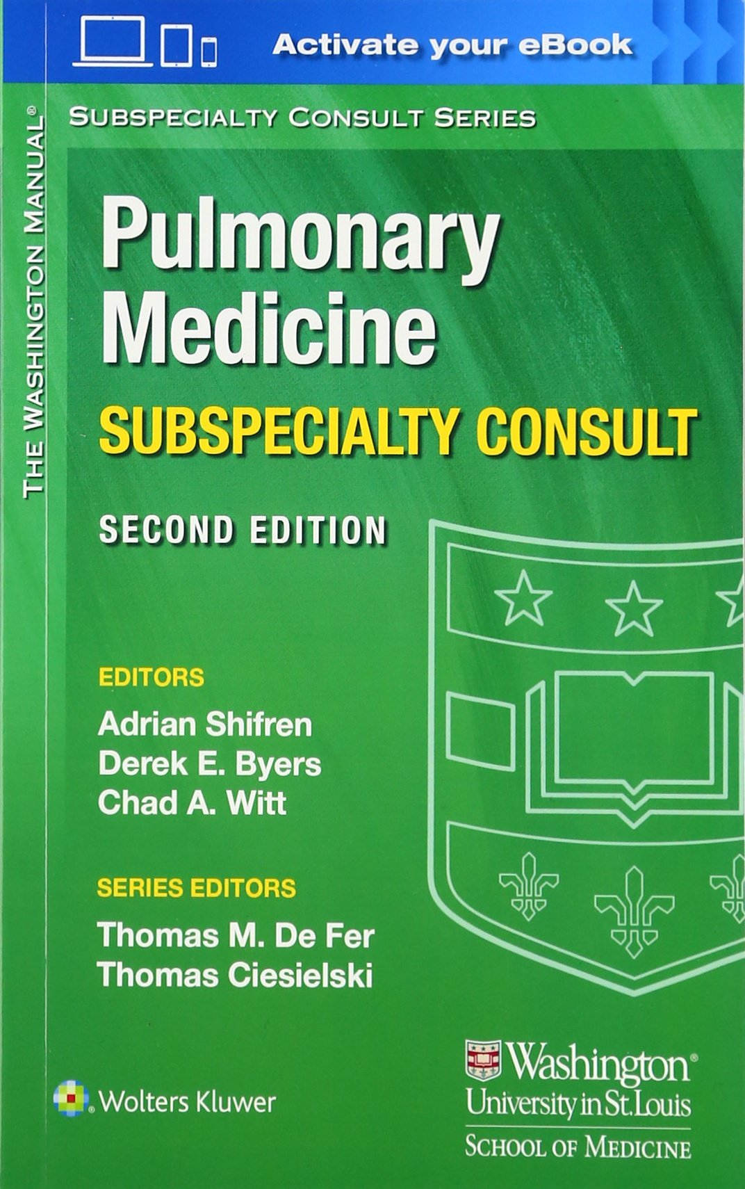 Buy The Washington Manual Pulmonary Medicine Subspecialty Consult (The  Washington Manual Subspecialty Consult Series) Book Online at Low Prices in  India ...
