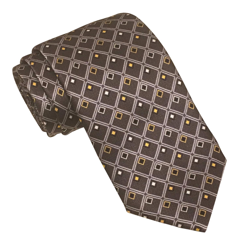 Robert Talbott Best of Class Satin Gray Geometric Tie