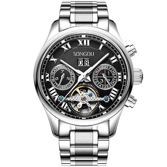 songdu Hombre 7002 Pico Collection Multi Función de acero inoxidable reloj mecánico automático con Enlace Pulsera: Zoe Miller: Amazon.es: Relojes