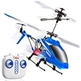 Syma S107H Remote Control Helicopter - w/ Altitude Hold Indoor RC Helicopter for Adults, Flying Toys for Kids (Blue)